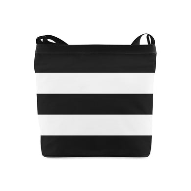 Black White Stripes Crossbody Bags (Model 1613)