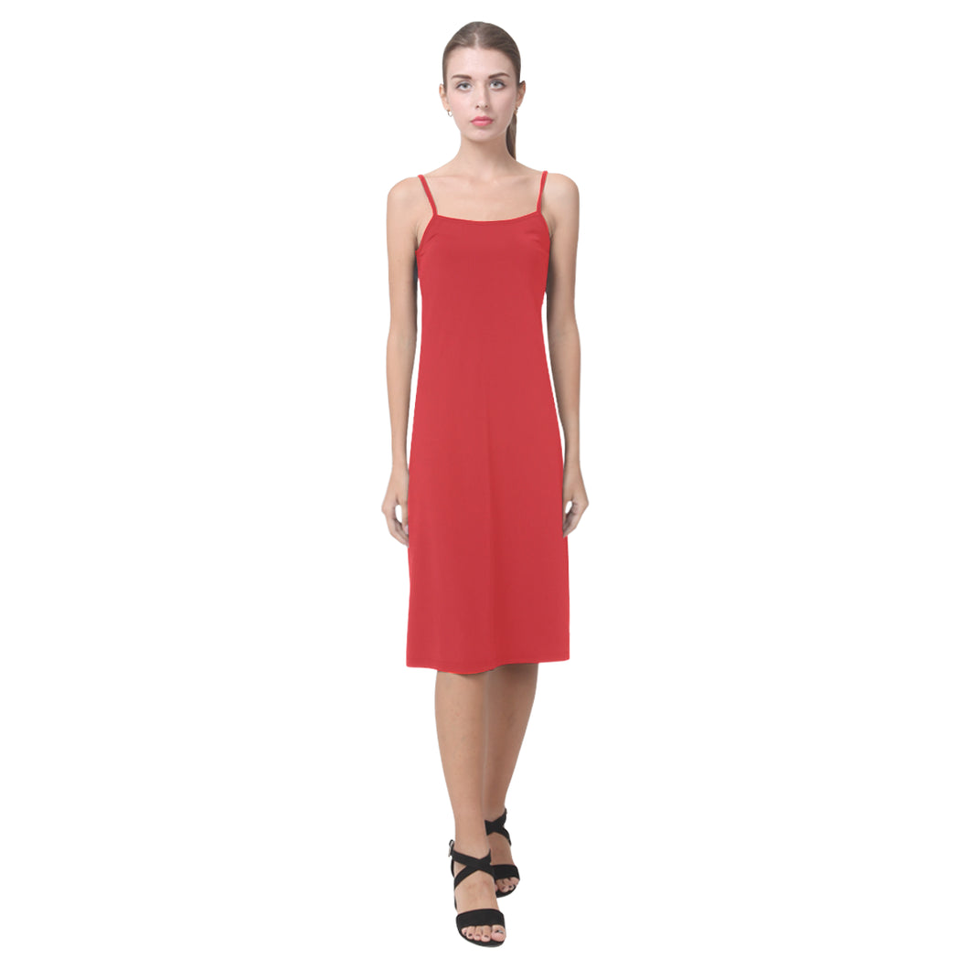 Alizarin Dissolve Alcestis Slip Dress (Model D05)