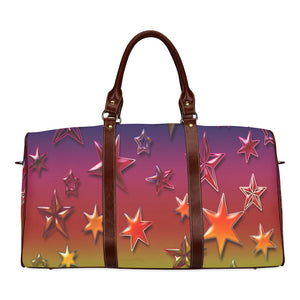 Rainbow Stars Waterproof Travel Bag/Small (Model 1639)