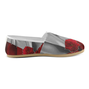 Two Tone Silk Rose Women's Casual Shoes (Model 004)