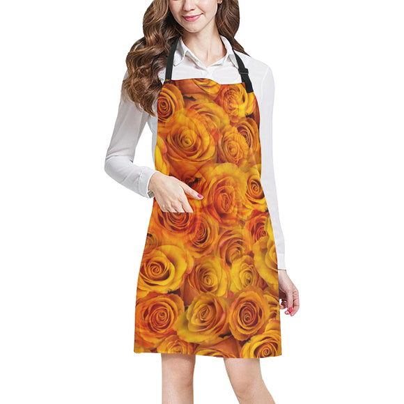 Grenadier Tangerine Roses All Over Print Apron