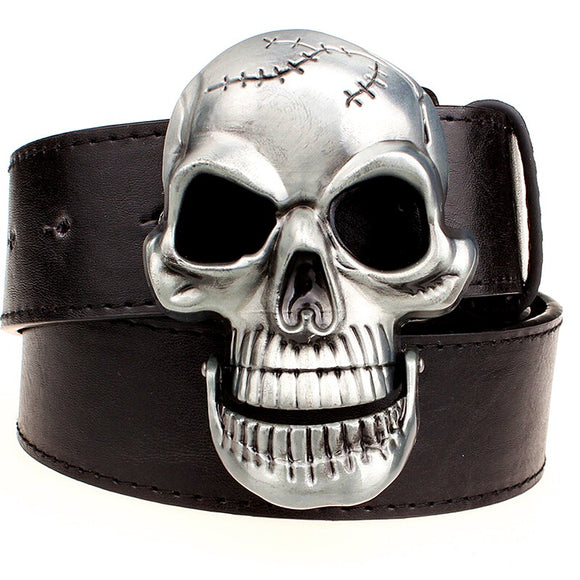 Vintage Western Skull Head Belt Buckle