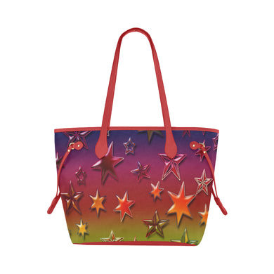 Rainbow Stars Clover Canvas Tote Bag (Model 1661)