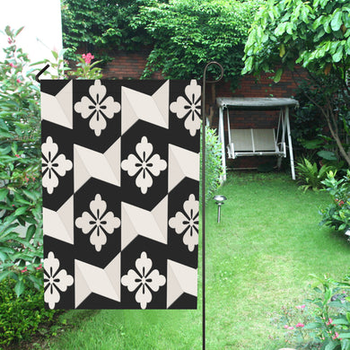 Black White Tiles Garden Flag 28''x40'' (Without Flagpole)