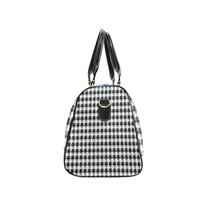 Black White Houndstooth New Waterproof Travel Bag/Small (Model 1639)