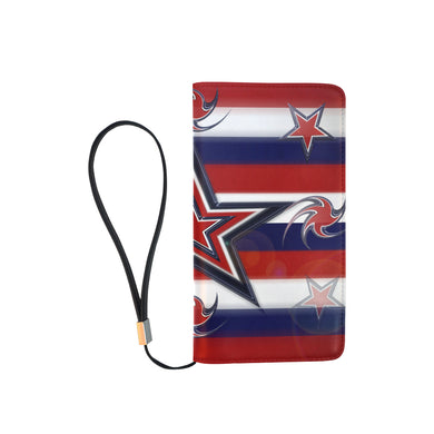 Tricolor Stars Stripes Men's Clutch Purse (Model 1638)