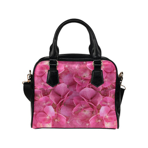 Dark Pink Flowers Shoulder Handbag (Model 1634)