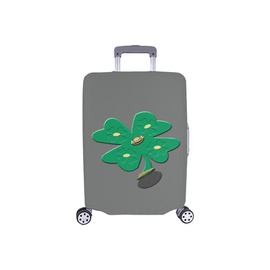 Shamrock Green Clover Luggage Cover/Small 24'' x 20''