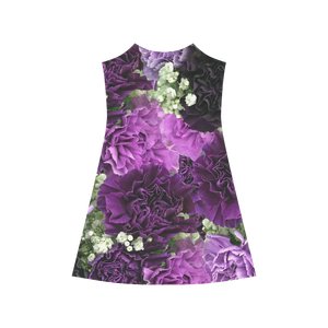 Little Purple Carnations Alcestis Slip Dress (Model D05)