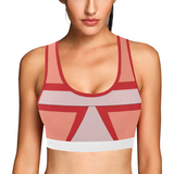 Shades of Red Patchwork Women's All Over Print Sports Bra (Model T52)