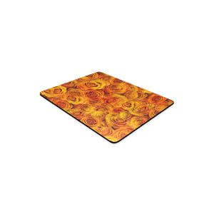 Grenadier Tangerine Roses Rectangle Mousepad