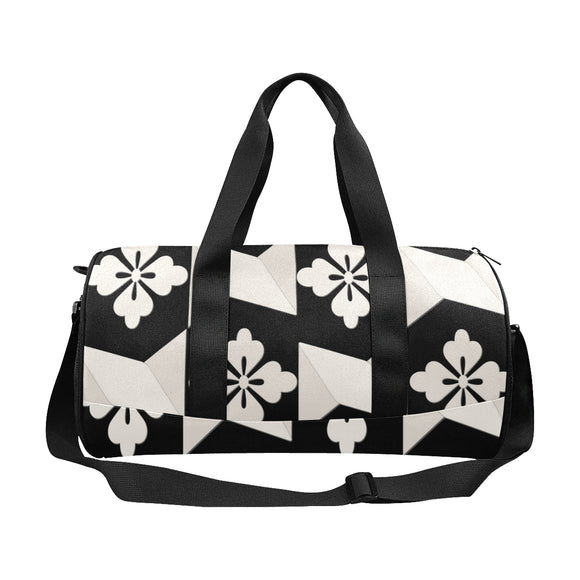 Black White Tile Duffle Bag (Model 1679)