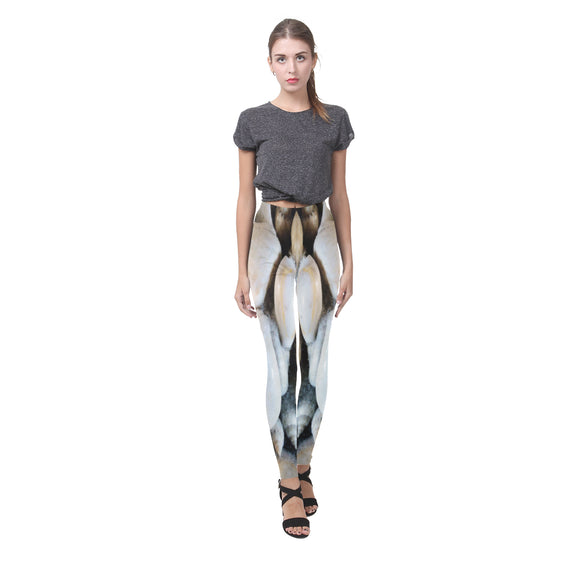 Vignette Sea Shells Cassandra Women's Leggings (Model L01)