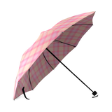 Pink Purple Plaid Foldable Umbrella