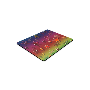 Rainbow Stars Rectangle Mousepad