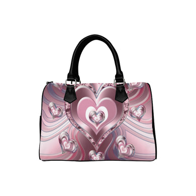 River Flowing Hearts Boston Handbag (Model 1621)