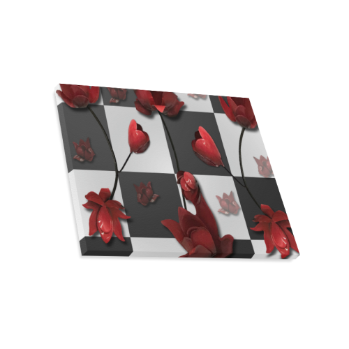 Burnt Crimson Flora Canvas Print 20