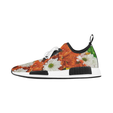 Green Orange White Daisies Women's Draco Running Shoes (Model 025)