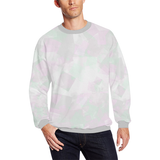 Clear Amour Snuff Mint Men's Oversized Fleece Crew Sweatshirt (Model H18)