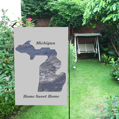 Michigan Shaped Waves Garden Flag 12''x18''(Without Flagpole)