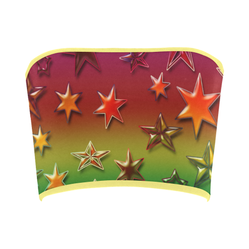 Rainbow Stars Bandeau Top