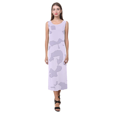 Lavender Moon Raker Phaedra Sleeveless Open Fork Long Dress (Model D08)