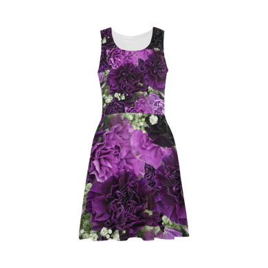 Little Purple Carnations Atalanta Sundress (Model D04)