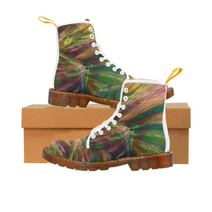 Abstract Colorful Glass Martin Boots For Women Model 1203H