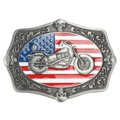 Cowboy Motorcycle Belt Buckle