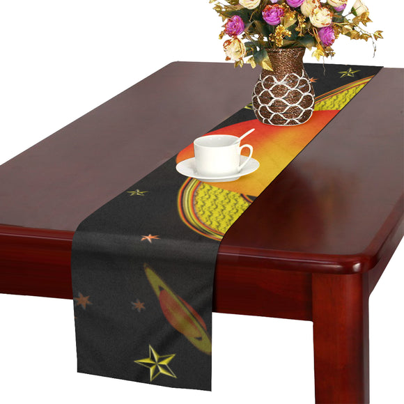 Outer Harvest Moons Table Runner 14x72 inch