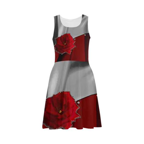 Two Tone Silk Rose Atalanta Sundress (Model D04)