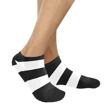 Black White Stripes Women's Ankle Socks