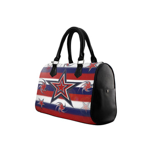 Tricolor Stars Stripes Boston Handbag (Model 1621)