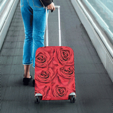 Radical Red Roses Luggage Cover/Small 24'' x 20''