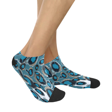 Bluish Smudge Spots Women's Ankle Socks