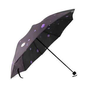 Lost Midnight Charcoal Stars Foldable Umbrella