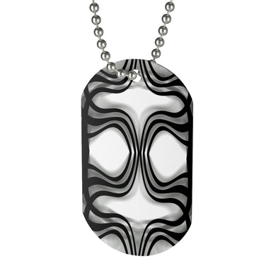 Nobel Squiggly Lines Dog Tag