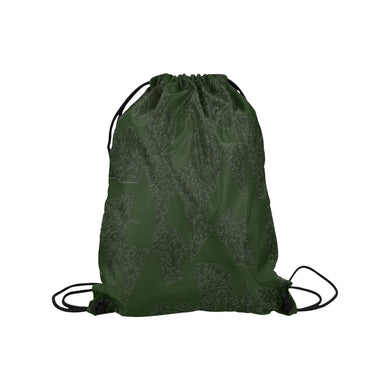 Deep Fir Shades Medium Drawstring Bag Model 1604 (Twin Sides) 13.8