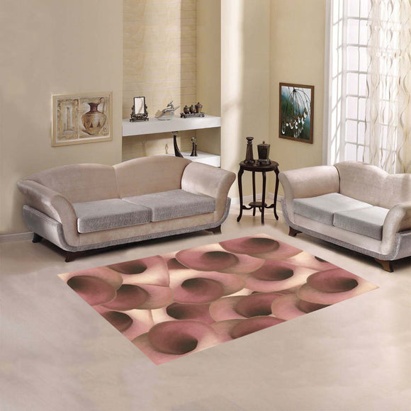 Apple Blossom Petals Area Rug 5'3''x4'