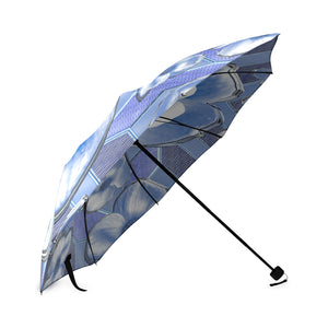 Blue Dogwood Flowers Foldable Umbrella