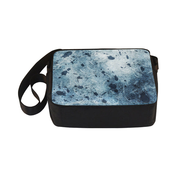 Water Blue Splatter Classic Cross-body Nylon Bags (Model 1632)