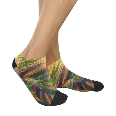 Abstract Colorful Glass Women's Ankle Socks