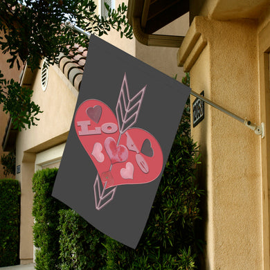 Arrow Through Love Hearts Garden Flag 28''x40'' (Without Flagpole)