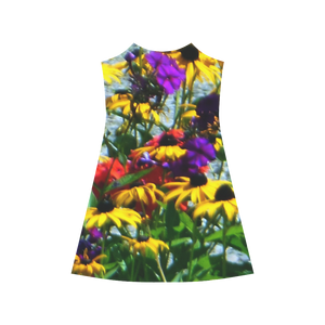 Picturesque Flowers Alcestis Slip Dress (Model D05)