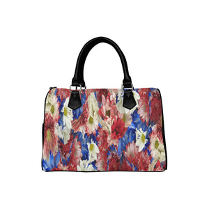 Red White Blue Flora Boston Handbag (Model 1621)