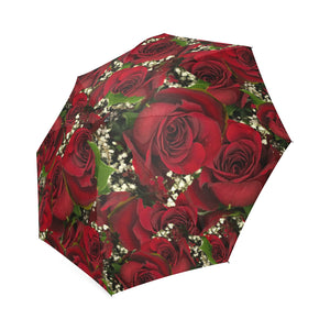 Carmine Roses Foldable Umbrella