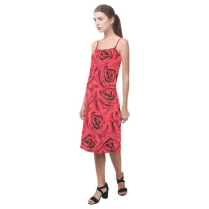 Radical Red Roses Alcestis Slip Dress (Model D05)