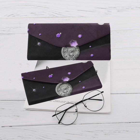 Lost Midnight Charcoal Stars Custom Foldable Glasses Case