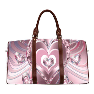 River Flowing Hearts Waterproof Travel Bag/Small (Model 1639)
