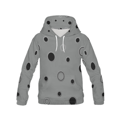 Black Polka Dots All Over Print Hoodie for Women (USA Size) (Model H13)